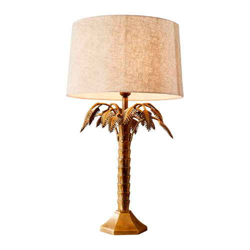 Rose Antique Brass Table Lamp
