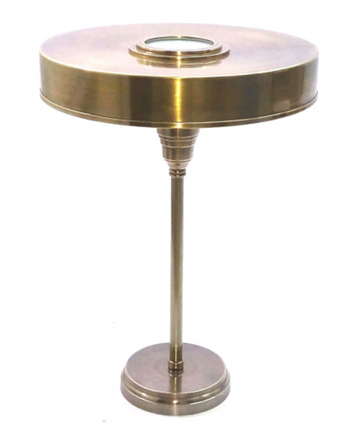 Bank Brass Table Lamp