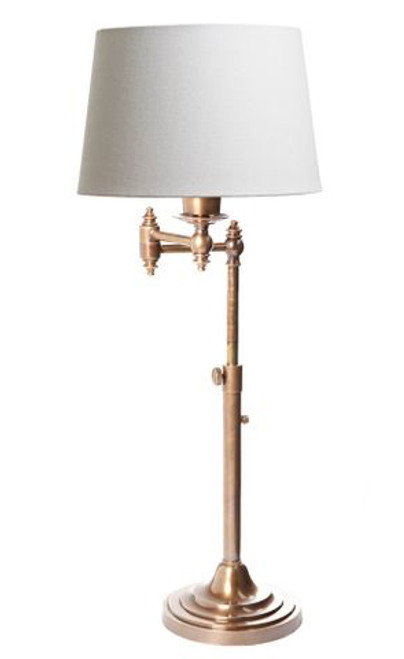 Mac Swing Arm Antique Brass Table Lamp