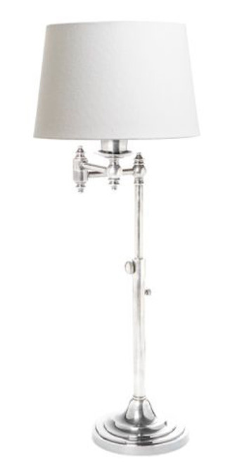 Mac Swing Arm Antique Silver Table Lamp