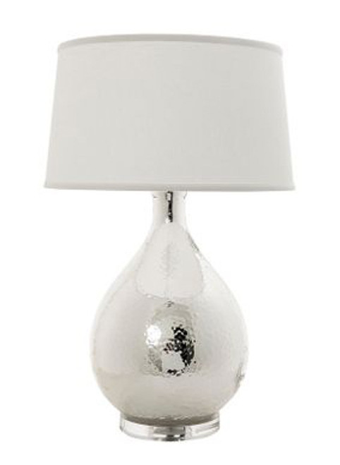 Halifax Silver White Table Lamp