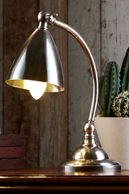Brent Antique Silver Table Lamp