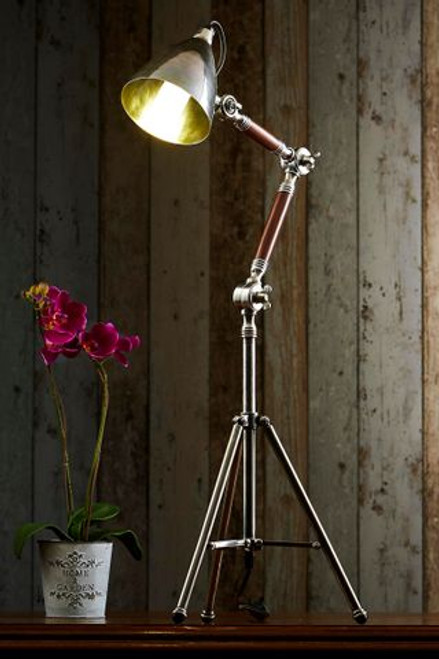 Dolly Antique Silver Tripod Table Lamp