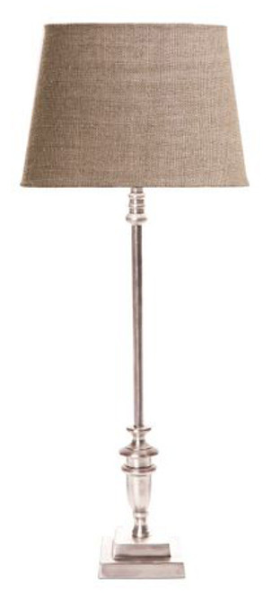 Lyon Antique Silver Table Lamp