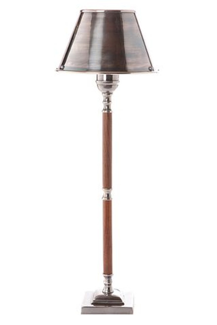 Tiki Silver Wood Table Lamp