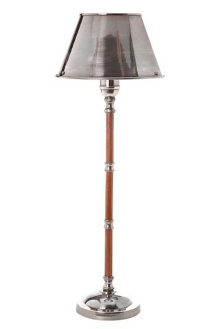 Delta Silver Wood Table Lamp