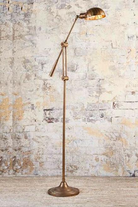Calais Antique Brass Floor Lamp