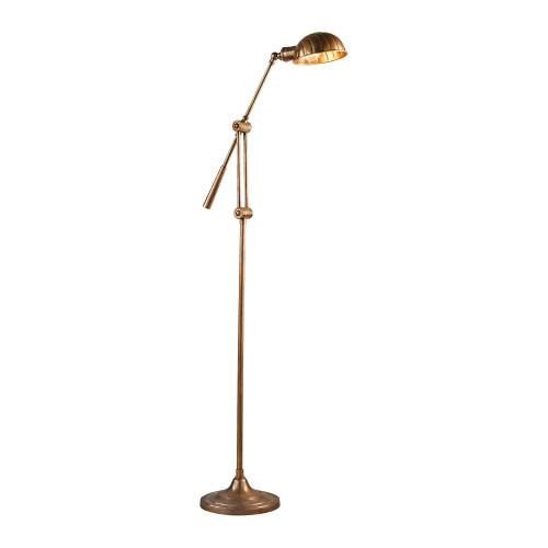 Calais Antique Brass Floor Lamp (ELPIM57025AB)