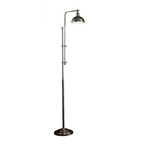 Michigan Antique Silver Floor Lamp