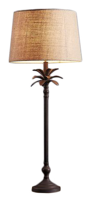 Casablanca Palm Tree Bronze Table Lamp