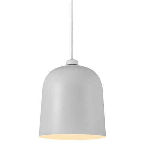 Angle Bell Pendant Light - White