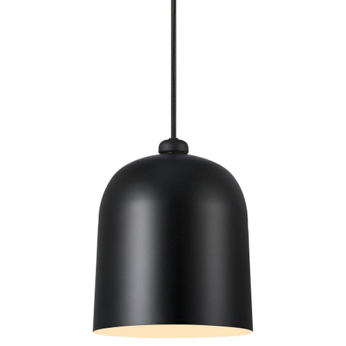 Angle Bell Pendant Light - Black - Light On