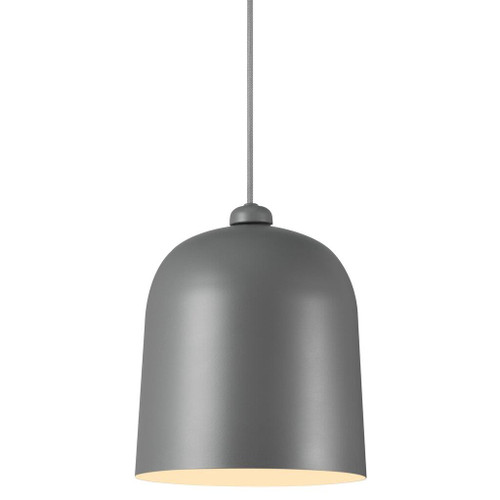 Angle Bell Pendant Light - Grey - Light On