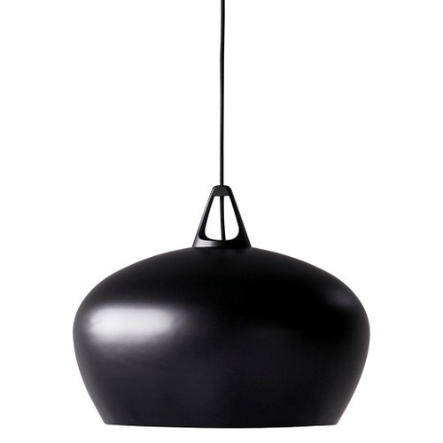 Danish Black Artisan Pot Pendant Light - Large