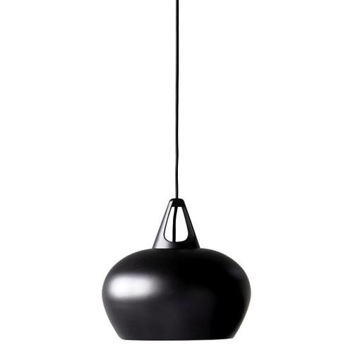 Danish Black Artisan Pot Pendant Light - Small