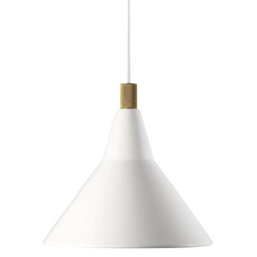 Brassy Nordic Cone Pendant Light - White