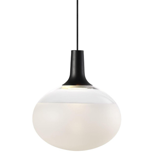Dee 2.0 Round Glass Pendant Light - Black