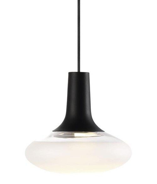 Dee 2.0 Oval Glass Pendant Light - Black