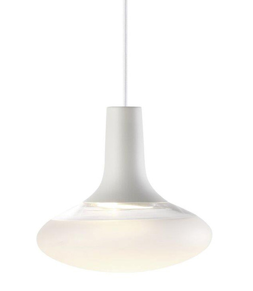 Dee 2.0 Oval Glass Pendant Light - White