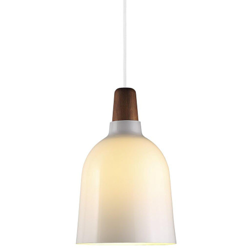 Karma 20 White Timber Top Pendant Light