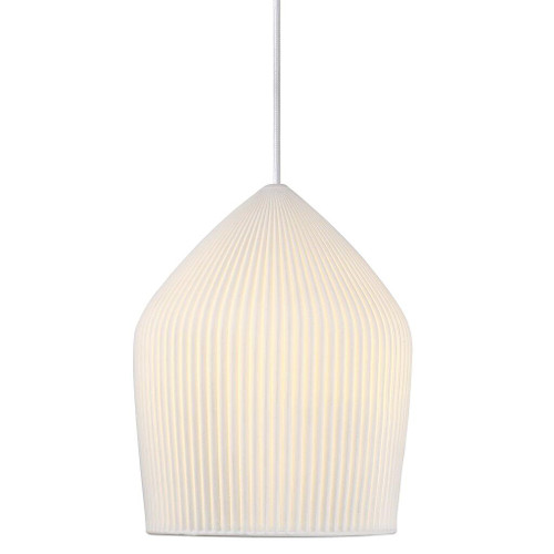 Danish Porcelain Reykjavik Pleated Pendant Light - Medium