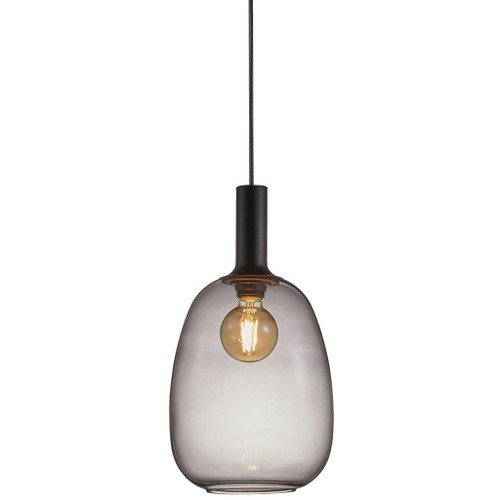 Alton Black Smoke Pendant Light - Oval