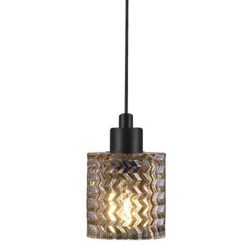 Hollywood Amber Glass Pendant Light