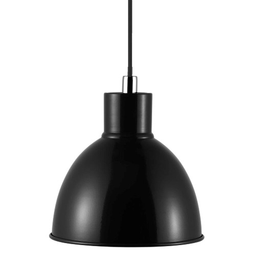 Poppy Black Bell Dome Pendant Light