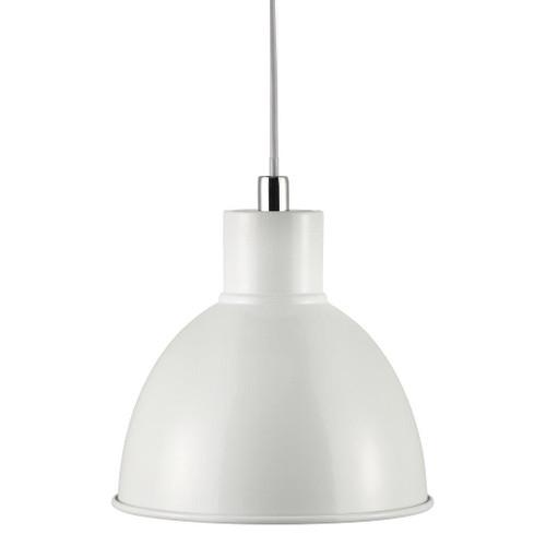 Poppy White Bell Dome Pendant Light