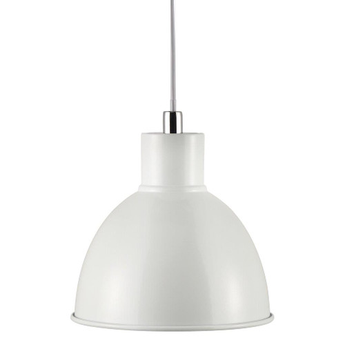 Poppy White Bell Dome Pendant Light