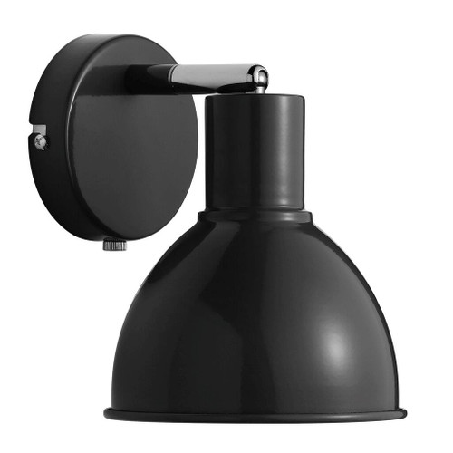 Poppy Black Bell Dome Wall Light