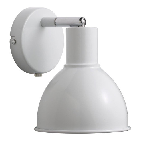 Poppy White Bell Dome Wall Light