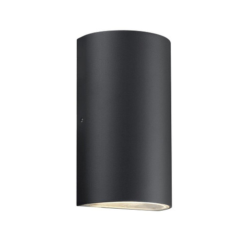 Rold Black Round Outdoor Wall Light