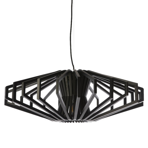 Denmark Black Wood Pendant Light