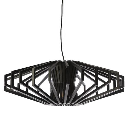 Denmark Black Wood Pendant Light