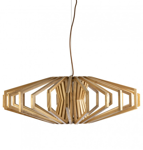 Denmark Natural Wood Pendant Light