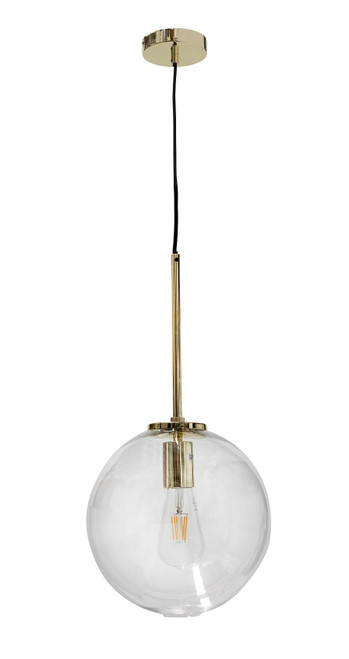Bastion Gold Round Glass Pendant Light