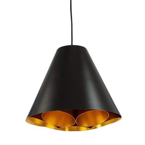 Serata Black Cone Pendant Light