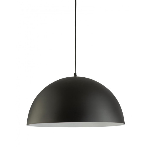 Simple Black Dome Pendant Light
