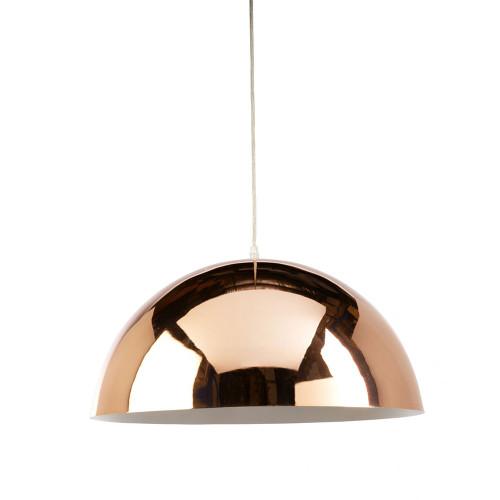 Simple Copper Dome Pendant Light