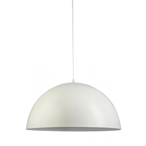 Simple White Dome Pendant Light