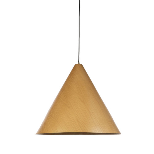 Timber Veneer Large Cone Pendant Light