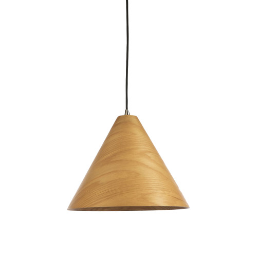 Timber Veneer Medium Cone Pendant Light