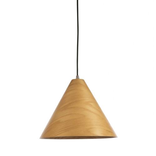 Timber Veneer Cone Natural Pendant Light - Large