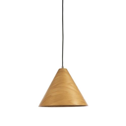 Timber Veneer Cone Natural Pendant Light - Small