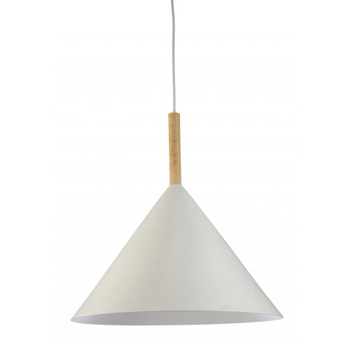 Nordic White Wood Rod Cone Pendant Light