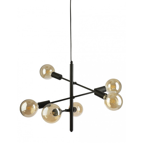 Axe 6 Light Black Pendant Light