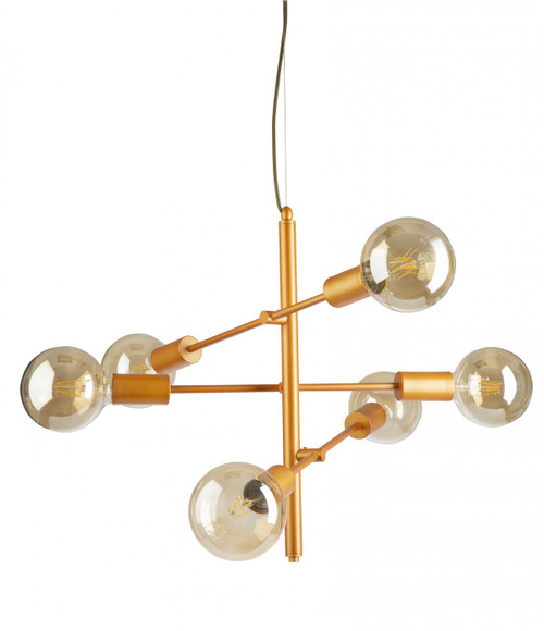 Axe 6 Light Gold Pendant Light