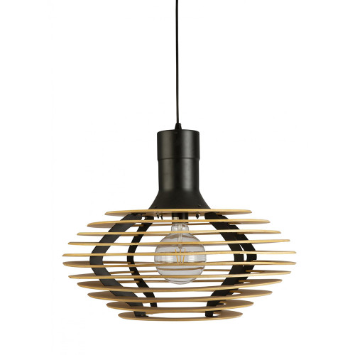 Galattica Wood Timbeer Veneer Pendant Light