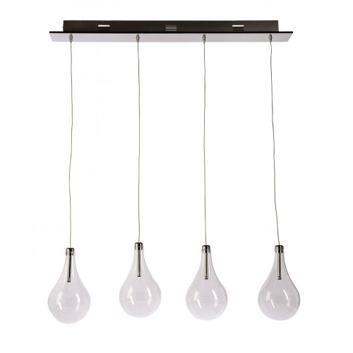 Bubble Glass 4 Light Bar Pendant Light
